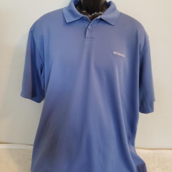 3339ab01d23 Columbia Shirts | Mens Blue Polo Shirt Size Large | Poshmark